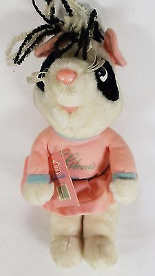 Vintage 1980s Hasbro Roland Rat Friends Soft Toy - GLENIS GUINEA PIG w/ Tag