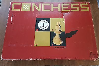 Conchess Ambassador Vintage Computer Chess Board & Pieces Boxed