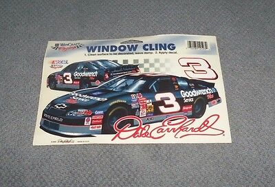 NASCAR Vintage 2000 Dale Earnhardt #3 Re-Useable Window Cling  New Rare