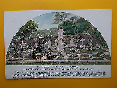 Gods Acre Fuhchow Foochow Hwa-Sang China Missionary Martyrs Grave *Vintage* 1910