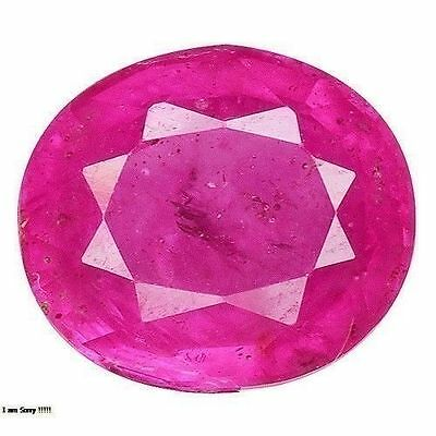 1.740Cts Attractive Luster Pink Red Natural Ruby Oval  Loose Gemstones