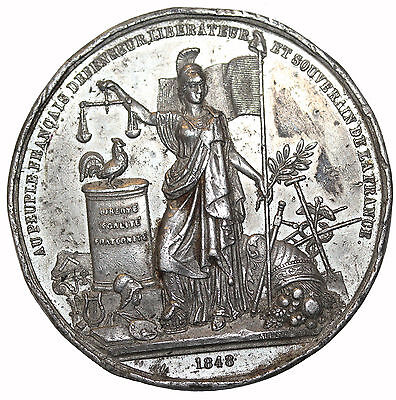 France 1848 French Revolution Medal By Allen & Moore