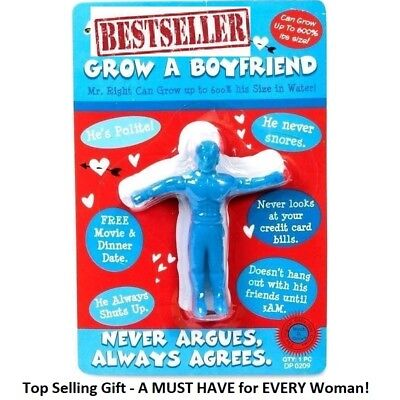 GROW A BOYFRIEND FUNNY GADGET Xmas Gift Ideal Present for Her Girl Woman GB01