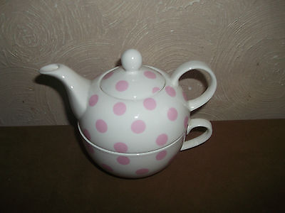 Laura Ashley Pink Spot Tea For One