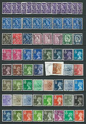 Collection of Northern Ireland good used definitive stamps.