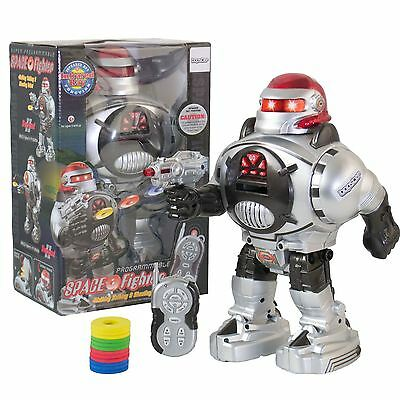 Remote Control Robot Walking Talking Light-Up Dancing Firing RC Space Kids Toy