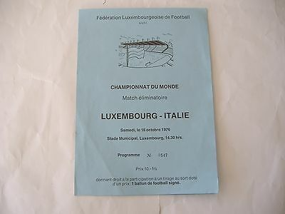 Luxembourg v Italy, ( 16/10/1976) World Cup Qualifier,