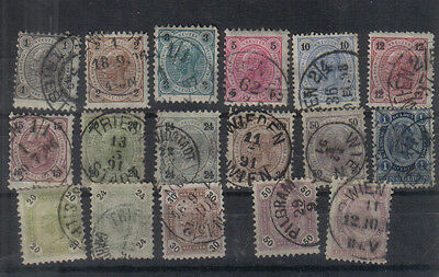Austria 1890-96 Used collection