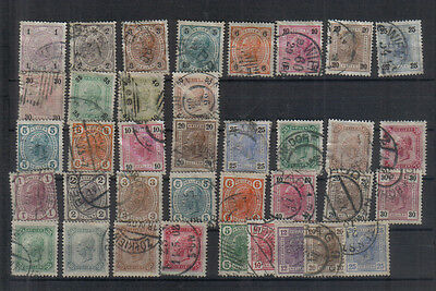 Austria 1901-07 Used collection