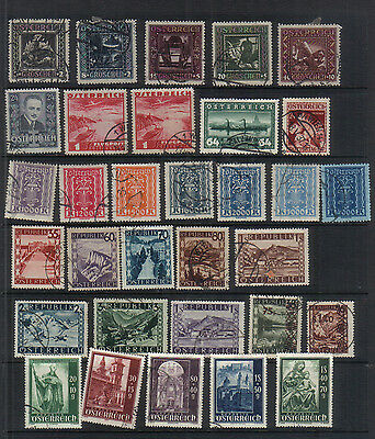 Austria 1922-46 Interesting used collection