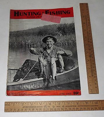 JUNE 1943 - HUNTING And FISHING Combined with NATIONAL SPORTSMAN - Magazine