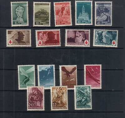 Hungary 1939-44 Four sets unmounted mint