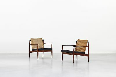 Beautiful Pair of Lounge Easy Chairs by Carl Straub for Goldfeder Germany