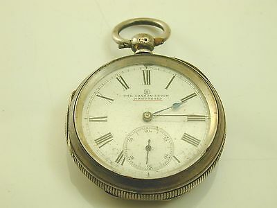 The London Lever pocket watch sterling silver case dated 1884 spares or repairs