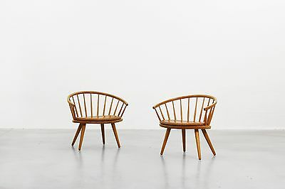 Beautiful Pair of Lounge Easy Chair by Yngve Ekström for Stolab