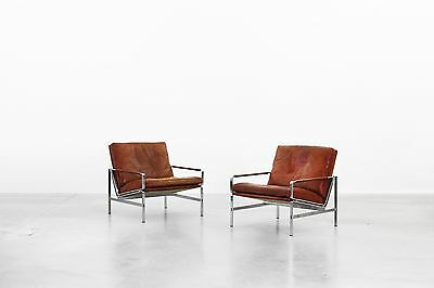 Pair of Beautiful Lounge Chairs by Fabricius & Kastholm for Kill International