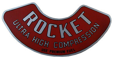 1962 1963 Oldsmobile Rocket 88 Ultra High Compression Air Cleaner Decal