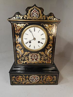 Antique French Striking Boulle Clock   ref 1880
