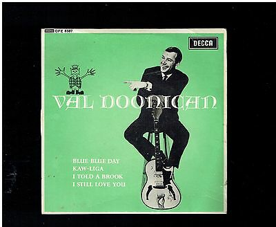 Val Doonican Blue Blue Day Ep Decca 1964