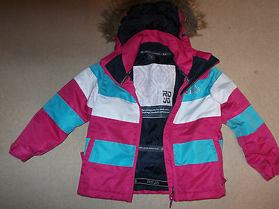 Girls Ski Jacket Age 5/6 Years By Rojo Used Very Clean