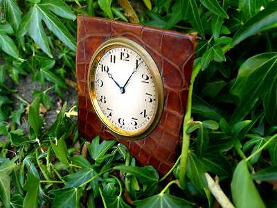 Antique Art Deco Swiss Travel Clock Watch Time Piece 7 Jewels With 3 Adjustments