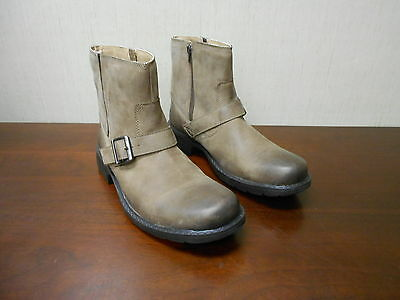 M4457 New Men's Clarks 63258 Pride Buckle Brown Leather Ankle Boots 12 M
