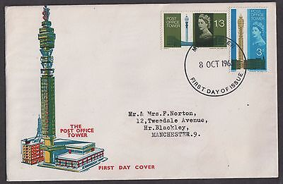 GB FDC 1965 Post Office Tower Set (o) Manchester FDI