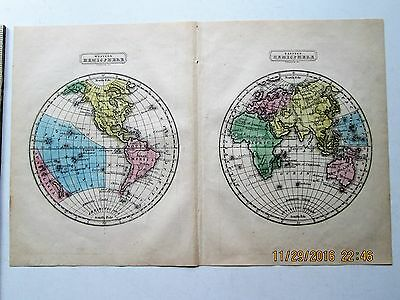 Boynton Map World Western Eastern Hemisphere