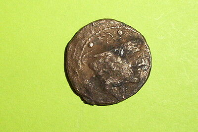 Ancient ROMAN REPUBLIC COIN mercury 194 BC-190BC boat prow winged helmet antique