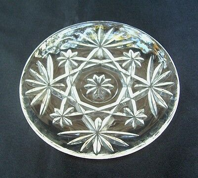 EAPC Oatmeal Pineapple 4-1/4 In Plates Set of 4 Anchor Hocking Glass Vintage