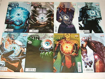 Original Sin 1-8 TEASER VARIANT SET Marvel Comics ISSUES 1, 2, 3, 4, 5, 6, 7, 8