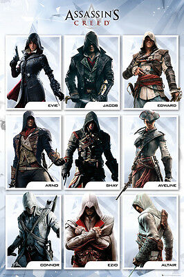 Poster ASSASSINS CREED SYNDICATE - 9 Characters (Game) ca60x90cm NEU 58709