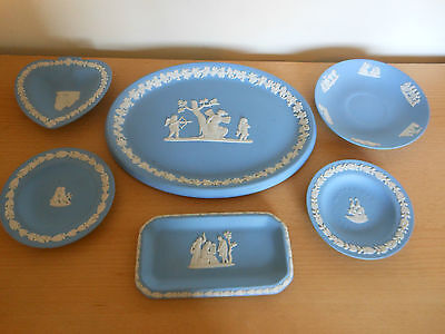 6 pieces of wedgwood jasper ware,,,,,,210