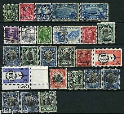 CANAL ZONE early, USA period, Mint & Used x25 [N206