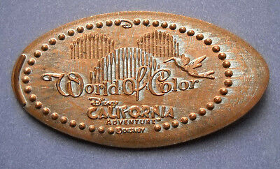 World Of Color elongated penny Disneyland USA cent souvenir coin 2-sided