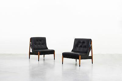 Mid Century Beautiful Pair of Lounge Chairs by Egon Eiermann for Wilde & Spieth
