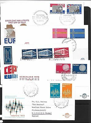 Netherlands. Range EUROPA FDC's., with earlier. (9)