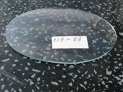 118 by 88 M/M OVAL CONVEX GLASS FOR VINTAGE CLOCKS