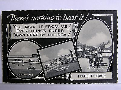 MULTIVIEW POSTCARD - MABLETHORPE - LINCOLNSHIRE - c.1950