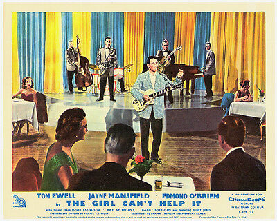The Girl Can't Help It Original British Lobby Card Eddie Fontaine
