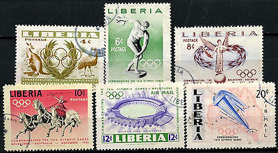 Liberia 1956 SG#784-9 Olympic Games Used Set #D39621