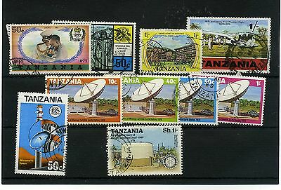 Tanzania 10  -- 1970's  Used Stamps On Stockcard