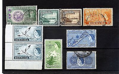 Bermuda.9 --G6/qe2 Unmounted Mint/ Used Stamps On Stockcard