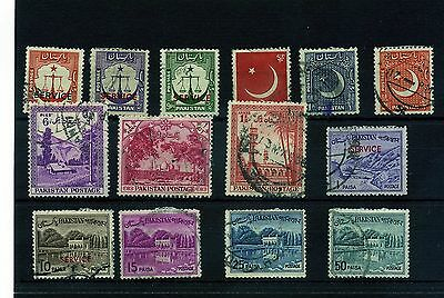 Pakistan. 14 --Used Stamps On Stockcard.