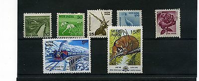 India. 7 -- Recent Unmounted Mint Stamps On Stockcard