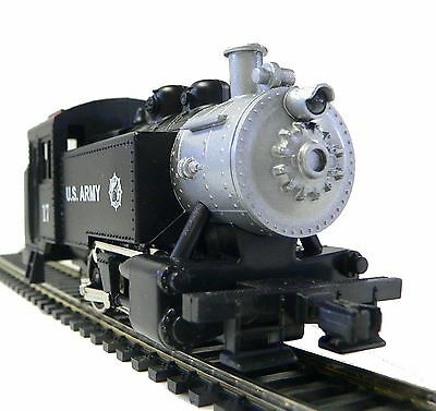 HO Scale Model Railroad Trains Layout Engine US Army 0-4-0 Steam Tank Switcher