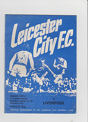1971 F.A.Charity Shield.Leicester City v Liverpool.