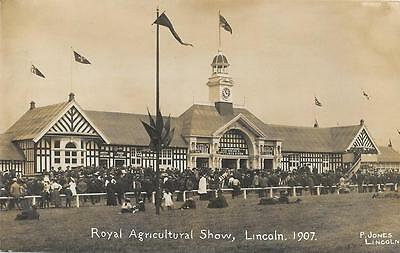 1907 Royal Agricultural Show Lincoln Unused Local Issue RP Postcard