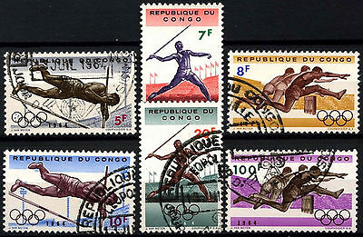 Congo 1964 SG#532-7 Olympic Games Cto Used Set #D39691