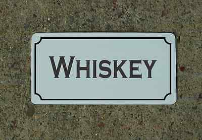 "WHISKEY 6""X12"" Tin Metal Sign Vintage Style Design for Kitchen Bar Decor"